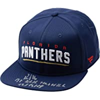 "Aleksander Barkov Florida Panthers Autographed Blue Fanatics Cap with""1st NHL Hat Trick 12/15/18"" Inscription - Limited Edition of 16… photo"