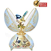Fairy Wren Musical Egg featuring Joy Scherger Art and Gems by The Bradford Exchange