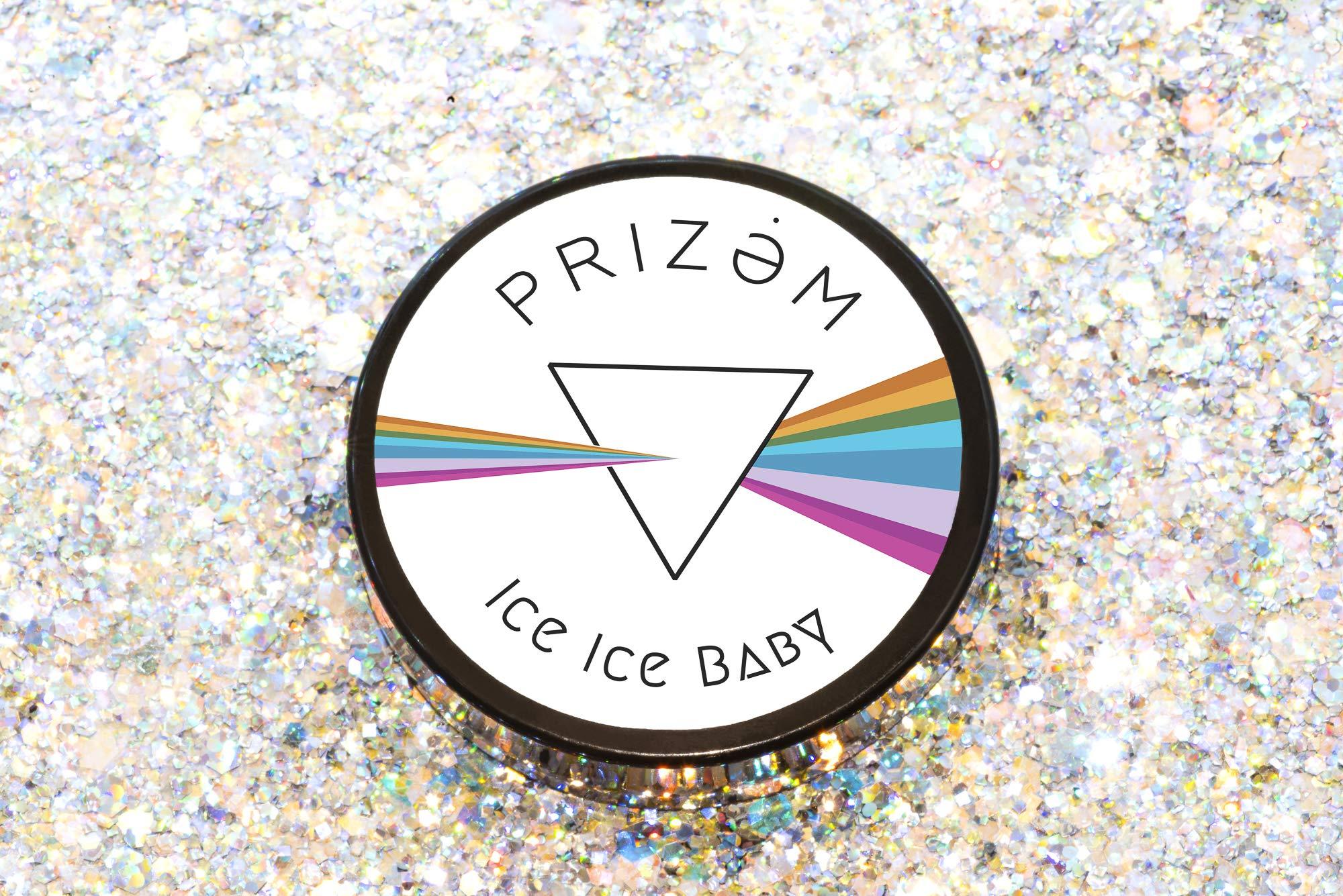 Prizem Ice Ice Baby Biodegradable Glitter ▽60g▽ Festival Glitter , Chunky Glitter , Makeup Glitter , Face Glitter , Body Glitter , Glitter Makeup , Hair Glitter , Cosmetic Glitter , Nail Glitter by Prizem