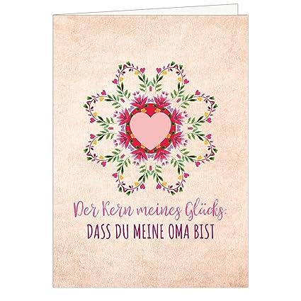 Grandes XXL (DIN A4) tarjeta para abuela con sobres/MI ...