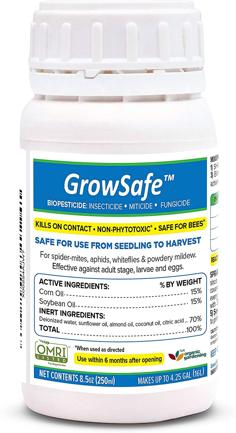 AgroMagen, GrowSafe Bio-Pesticide, Natural Miticide, Fungicide and Insecticide, for Organic Gardening, Non-Toxic, Concentrate (8.5 Ounce)