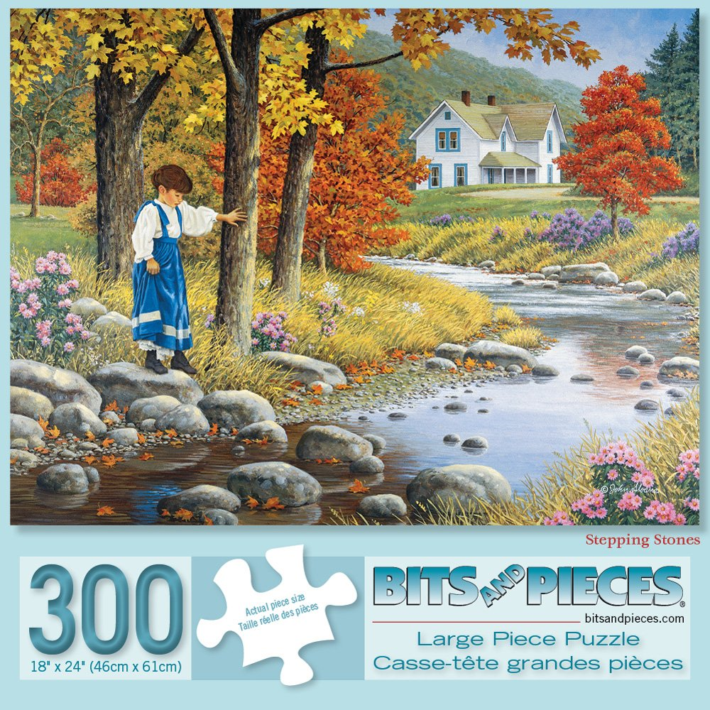 Amazon.com: Bits and Pieces - Set of Three (3) 300 Piece Jigsaw Puzzles for Adults - A Perfect Pair, Pick Your Own, Stepping Stones - 300 pc Jigsaws by ...