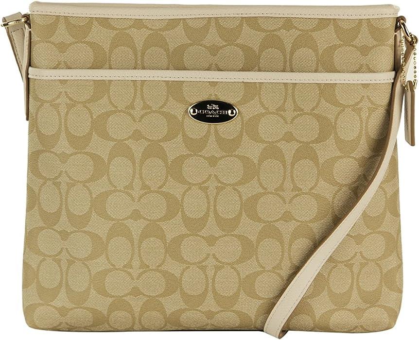 e601bd46b411 Coach Signature File Bag - Khaki Chalk  Amazon.ca  Luggage   Bags