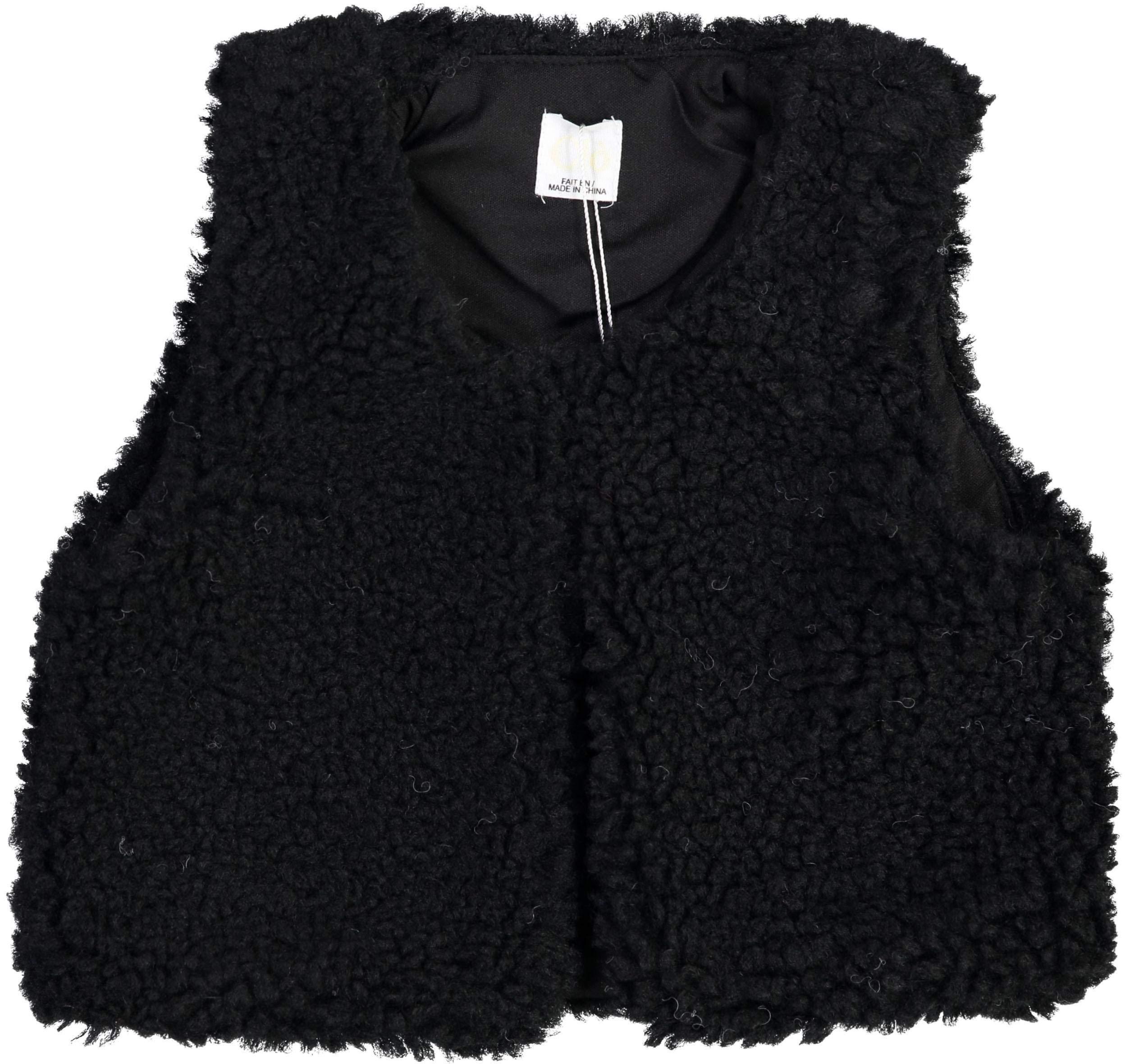 Clo Boys Girls Unisex Baby Sherpa Vest - WA9CP4009V - Black, 9 Months by Clo
