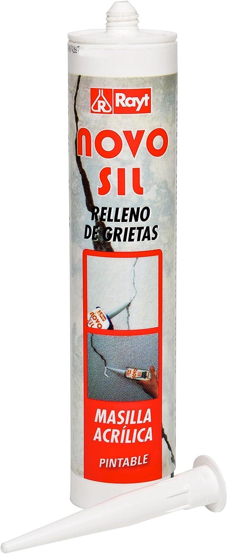 RAYT-NOVOSIL ACRÍLICA RELLENO GRIETAS - 859-13 Masilla en cartucho relleno de grietas blanco - 300 ml