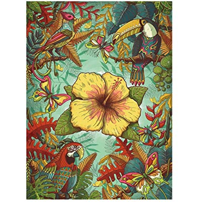 Jigsaw Puzzle 500 Pieces for Adult, Bird Jungle Flower Jigsaw Puzzle Pattern (Multicolor): Sports & Outdoors