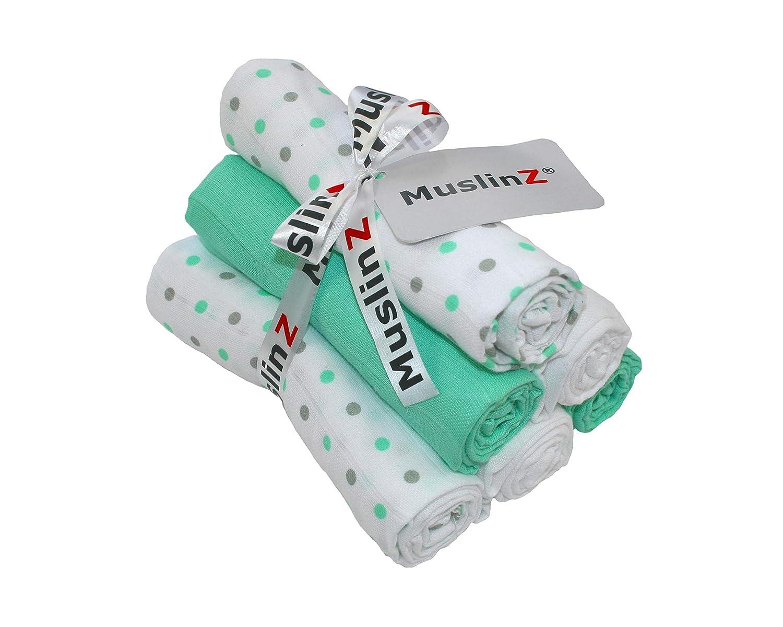 MulsinZ Langes 6pk mousseline 100/% coton 70x70cms