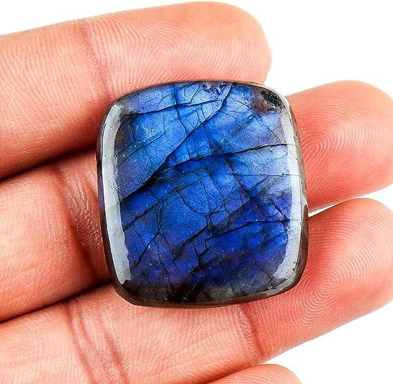 RAREST~ Natural Blue Flash Labradorite Gemstone MX-2094 Blue Labradorite Cabochon 108 Cts Oval Shape Spectrolite Labradorite Jewelry Use