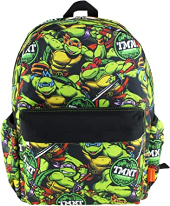 Ninja Turtles 16 inch All Over Print Deluxe Backpack With Laptop Compartment