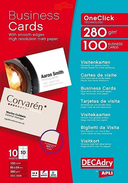 DECAdry OCC-3728 100pieza(s) tarjeta de visita - Tarjetas de ...