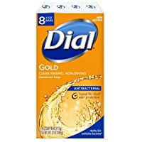 8 Pack Dial Antibacterial Bar Soap, Gold, 4 Ounce