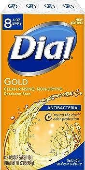 8-Count Dial Antibacterial Bar Soap, 4 Ounce
