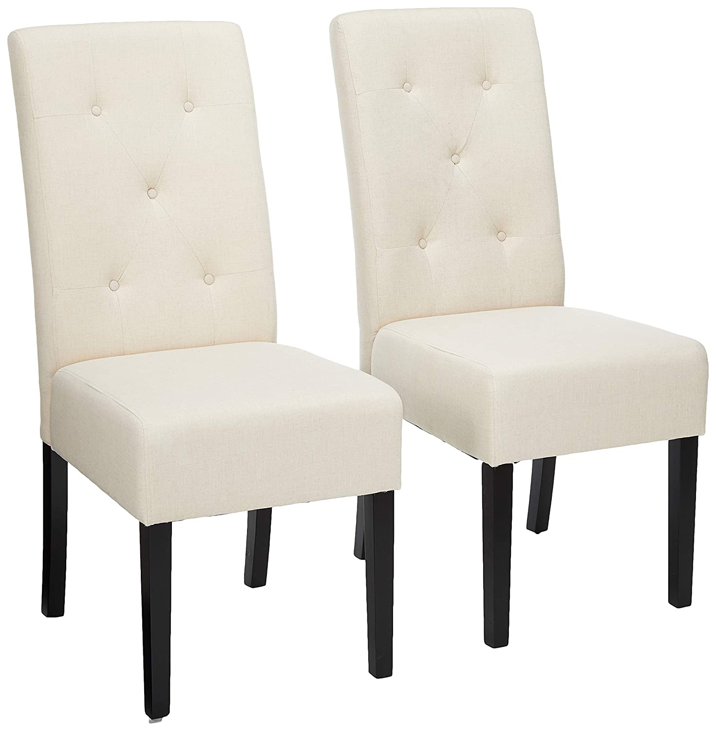 Christopher Knight Home 214518 Alexander Natural Fabric Dining Chair (Set of 2), 39.50 inches high x 17.50 inches Wide x 25.5 inches deep, Plain