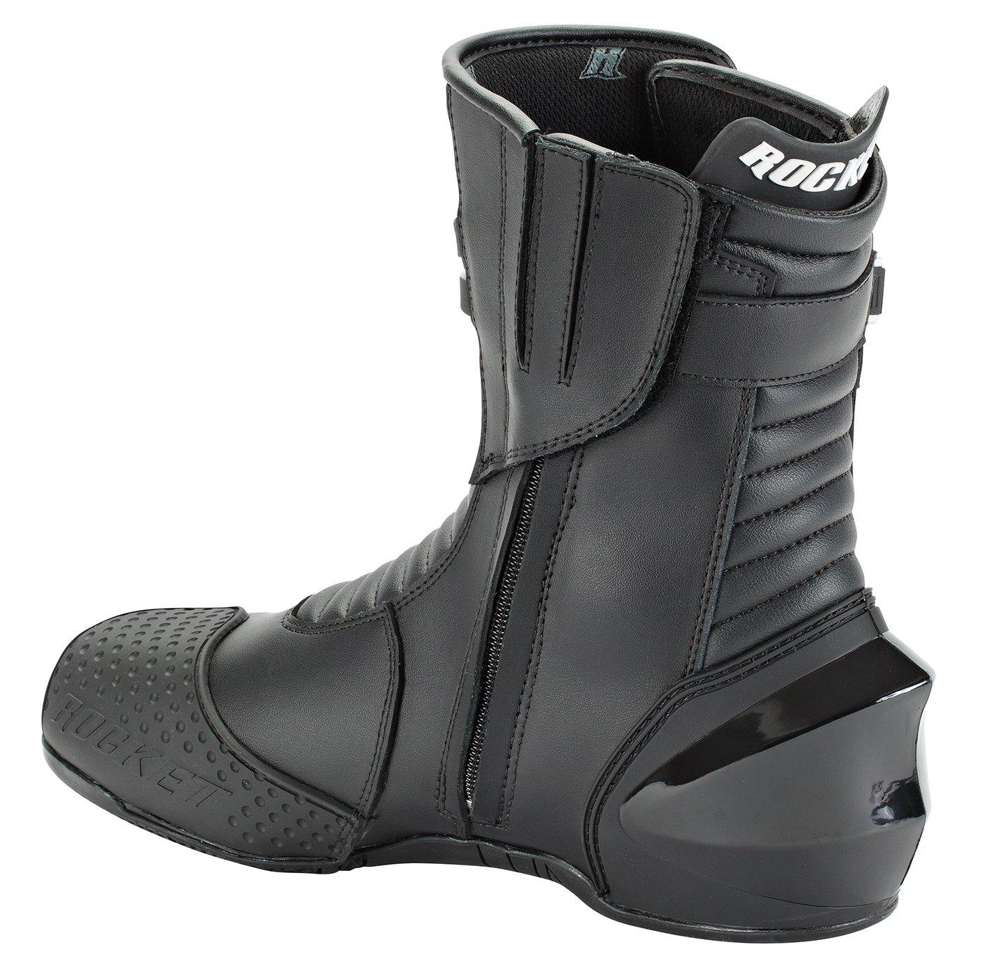 Joe Rocket Super Street RX14 Men's Leather Motorcycle Riding Boots (Black, Size 9.5) by Joe Rocket (Image #2)
