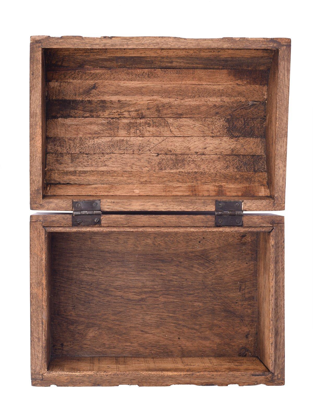 Large Wooden ''Tree of Life'' Chest Box Decorative Jewelry Trinket Holder Keepsake Storage Box Organizer Multi-utility 9 x 6 inches by storeindya (Image #4)