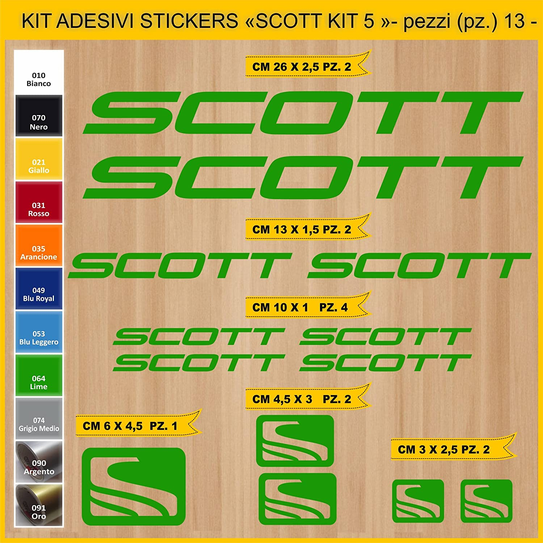 0912 Kit Pegatinas Stickers Bicicleta Scott Bike Cycle Cod Kit 5-13 Piezas
