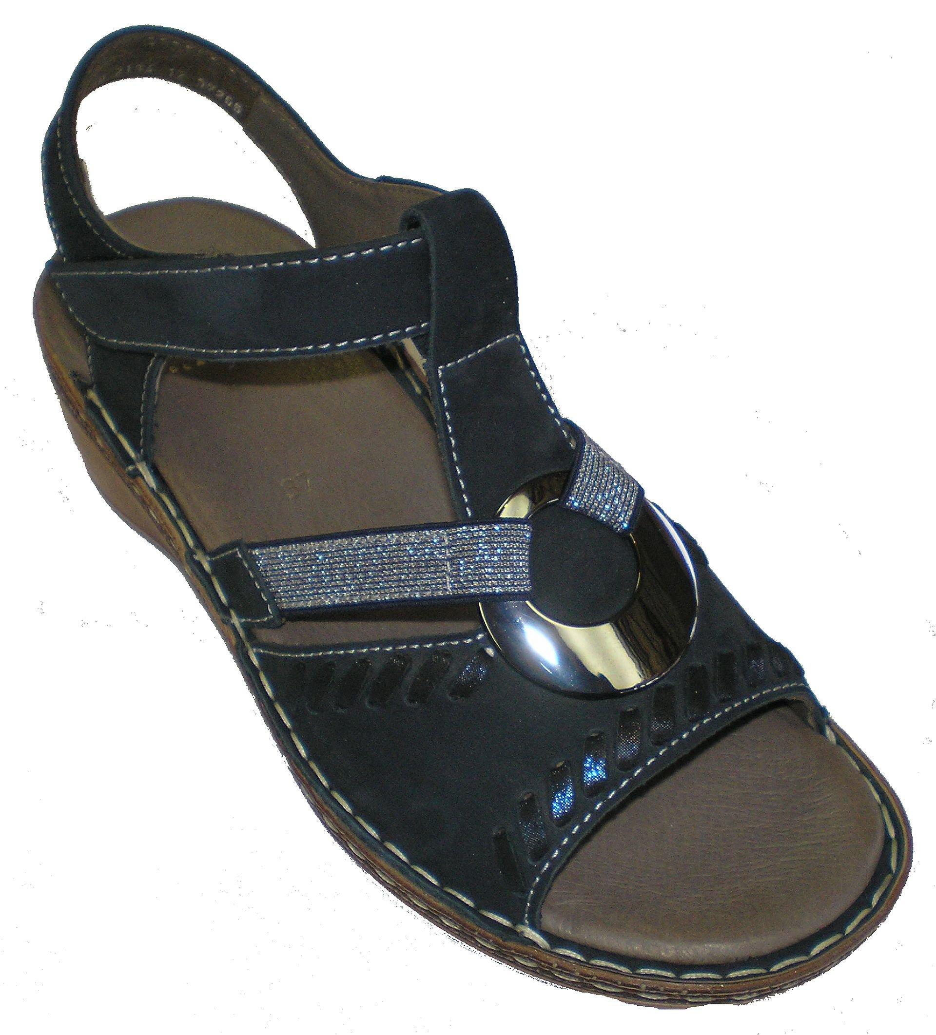 Ara 12-37255 Key-West Women Sandals US 10.5/EU 42 Blue
