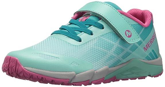 Merrell Girls' Bare Access A/C Sneaker, Blue, 3.5 Medium US Big Kid