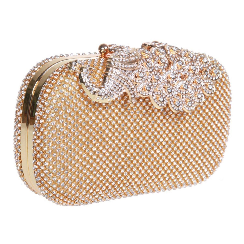 EULovelyPrice Damen Kristall Geldbörse Bling Peacock Clutch Geldbörse Strass Perlen Abend Handtaschen