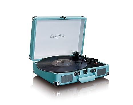 Tocadiscos LENCO TT-11BU Color Azul, Retro, 3 velocidades, Bluetooth