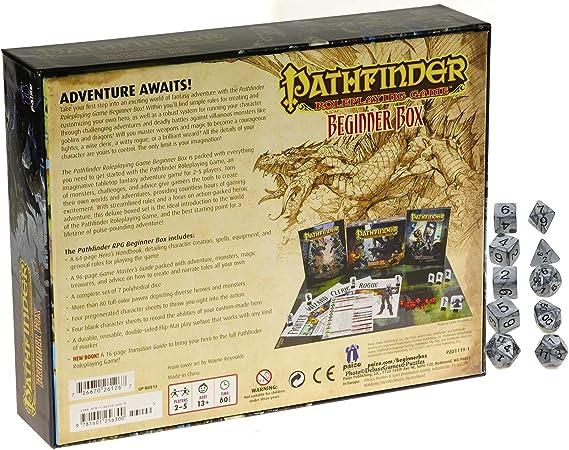 Pathfinder Juego de rol para Principiantes (RPG), con 10 Dados de Plata perlada: Amazon.es: Juguetes y juegos