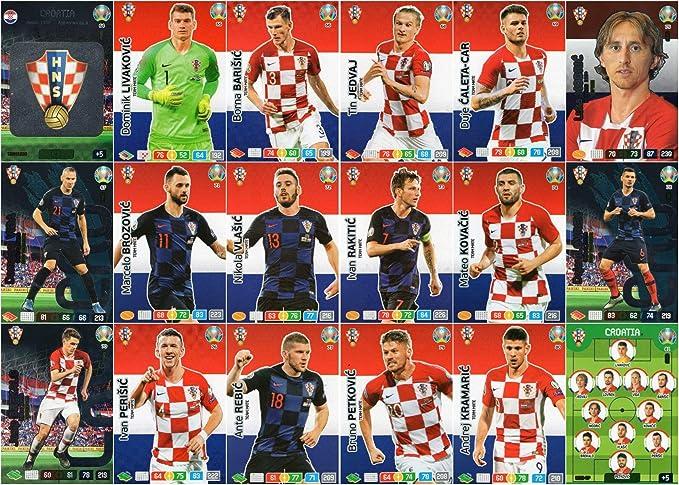 Panini Adrenalyn XL UEFA Euro 2020 Completo Dieciocho (18) Tarjeta Croacia Equipo Set - Euros: Amazon.es: Juguetes y juegos