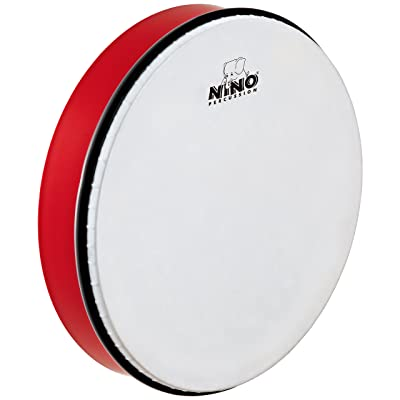 Nino Percussion NINO6R 12-Inch ABS Plastic Hand Drum with Synthetic Head, Red: Musical Instruments