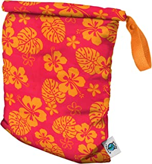 product image for Planet Wise Roll Down Wet Diaper Bag - Medium - Pink Hawaii