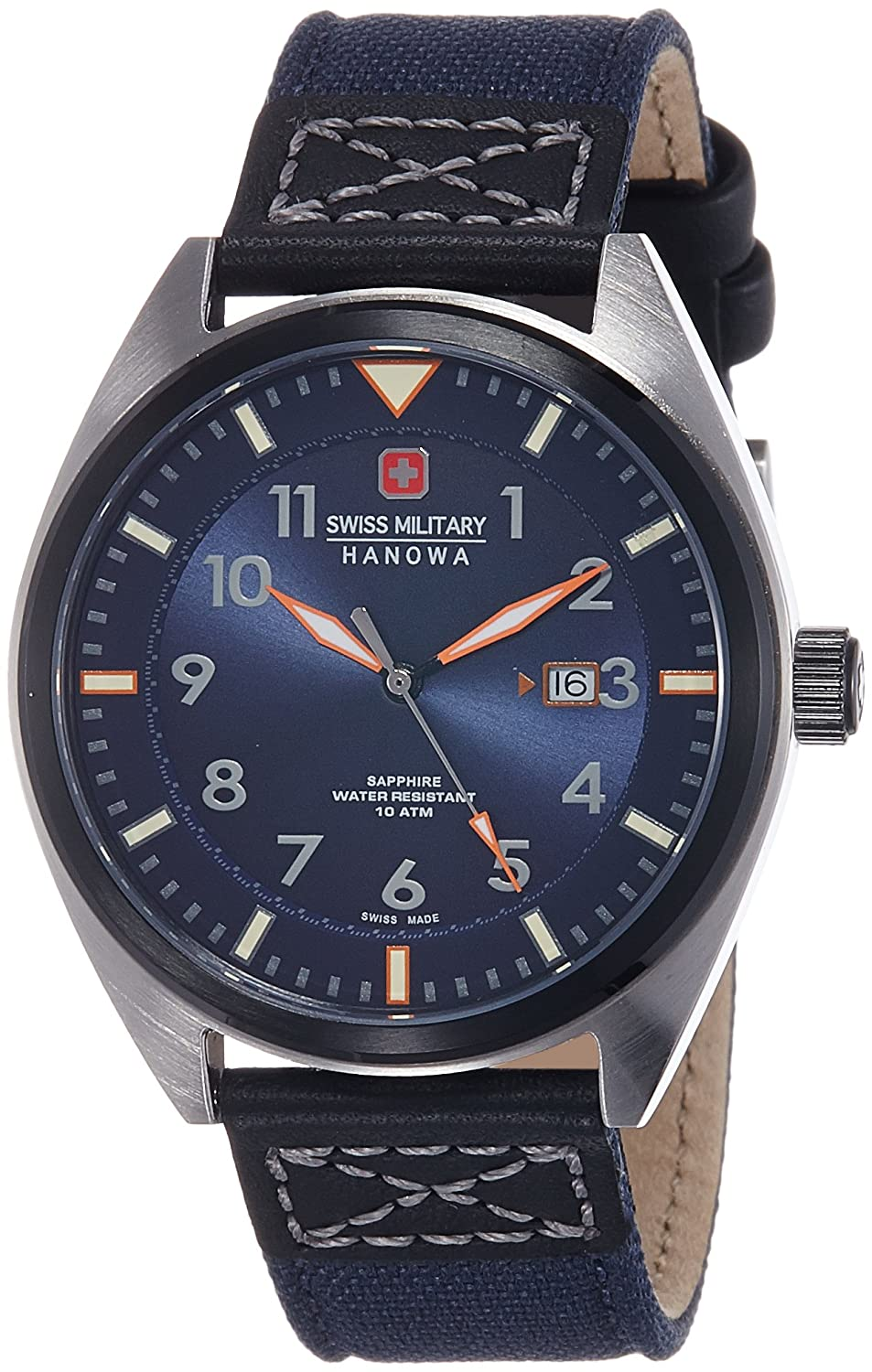 Swiss Military Hanowa Herren-Armbanduhr Analog Quarz 06-4258.33.003