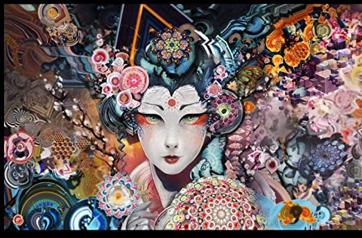 TWYYDP Puzzle Adulto 1000 Piezas Geisha Japonesa Pintura Art Deco Casera: Amazon.es: Hogar