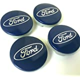 Set de 4 embellecedores de llantas de aleación 54 mm para Ford en color azul con