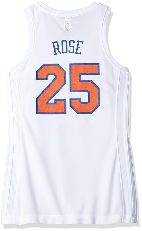 Amazon.com   NBA New York Knicks Derrick Rose  25 Women s Home ... b0ceeb5796