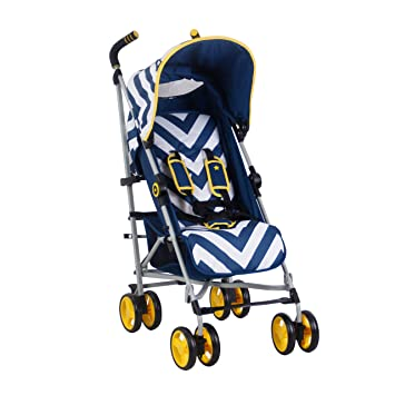 Amazon.com: My Babiie US02 Blue Chevron - Cochecito: Baby