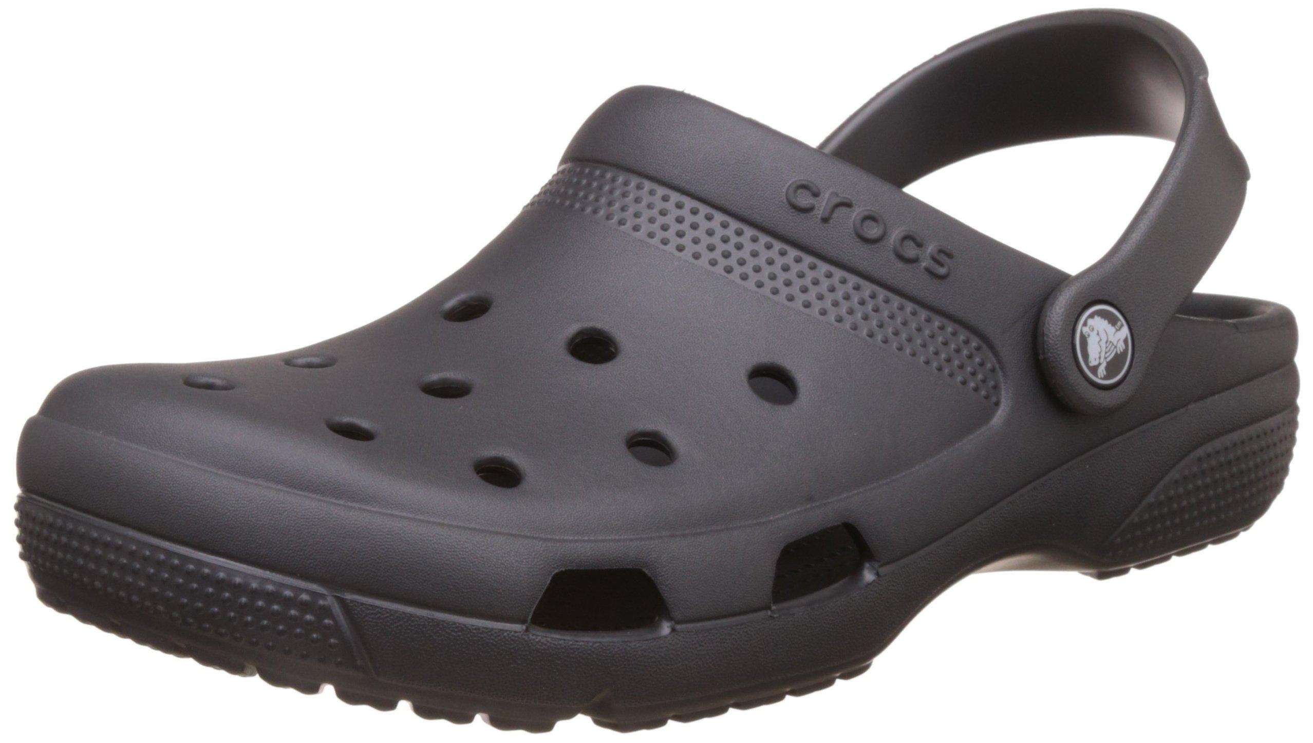 Crocs Unisex Coast Clog Graphite 12 Women/10 Men M US by Crocs