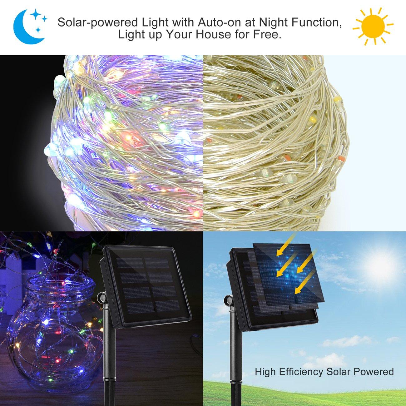 Catena luminosa di 200 led da 22 metri ad energia solare for Luci led piccole