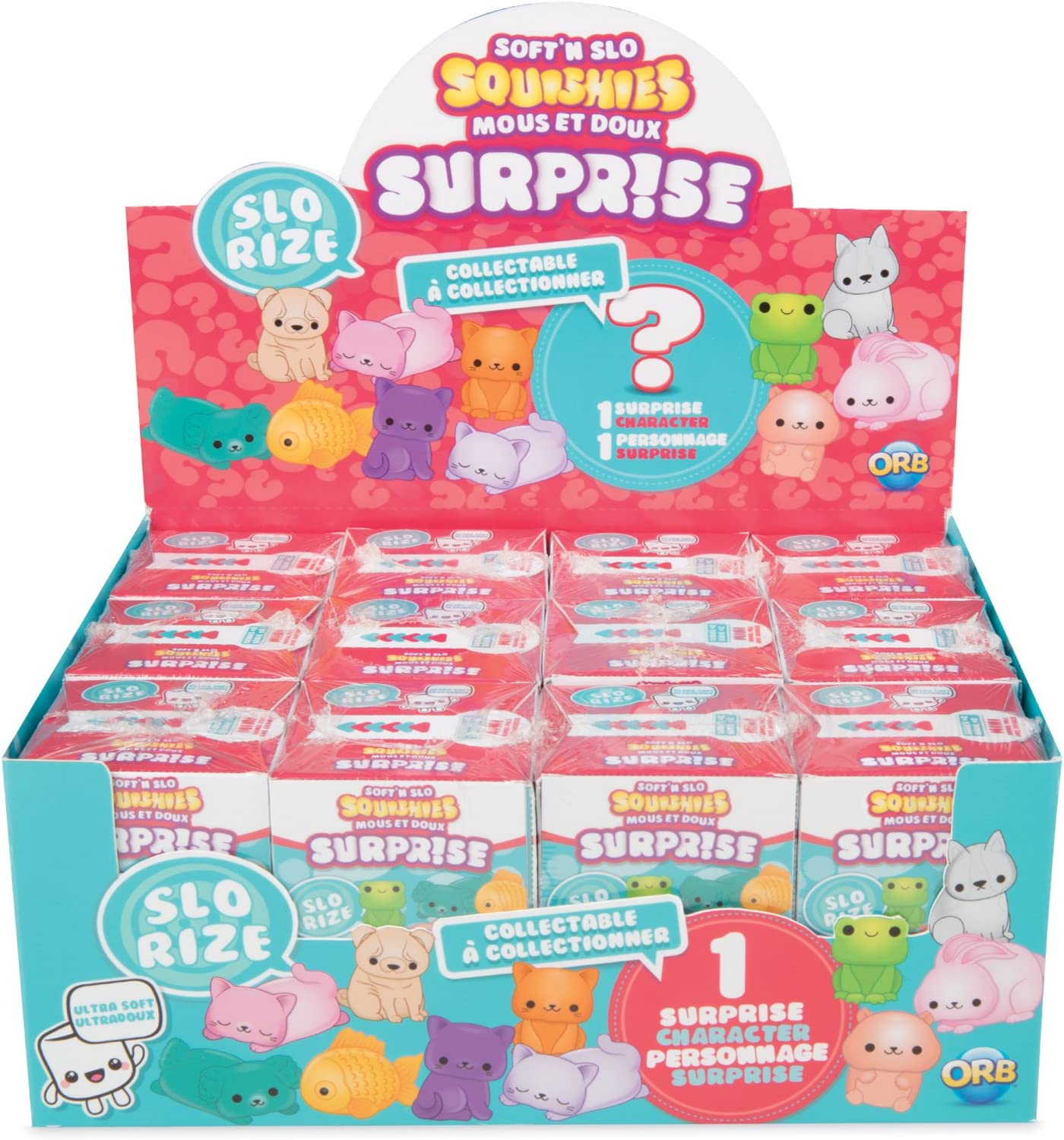 The Orb Factory Surprise Soft'n Slo Squishies, Multi Color, 8.27