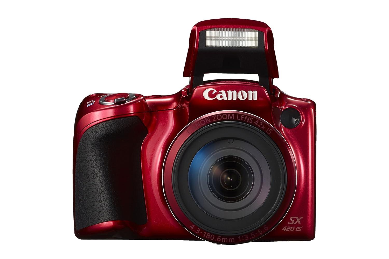 Amazon.com : Canon PowerShot SX420 Digital Camera w/ 42x Optical Zoom -  Wi-Fi & NFC Enabled (Red) : Camera & Photo