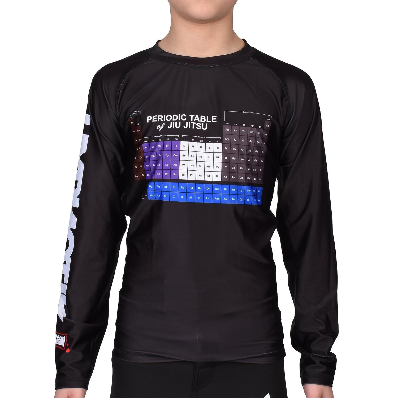 new styles e984d 08202 Amazon.com Hypnotik Kids Periodic Table Rashguard - Black - Medium  Clothing