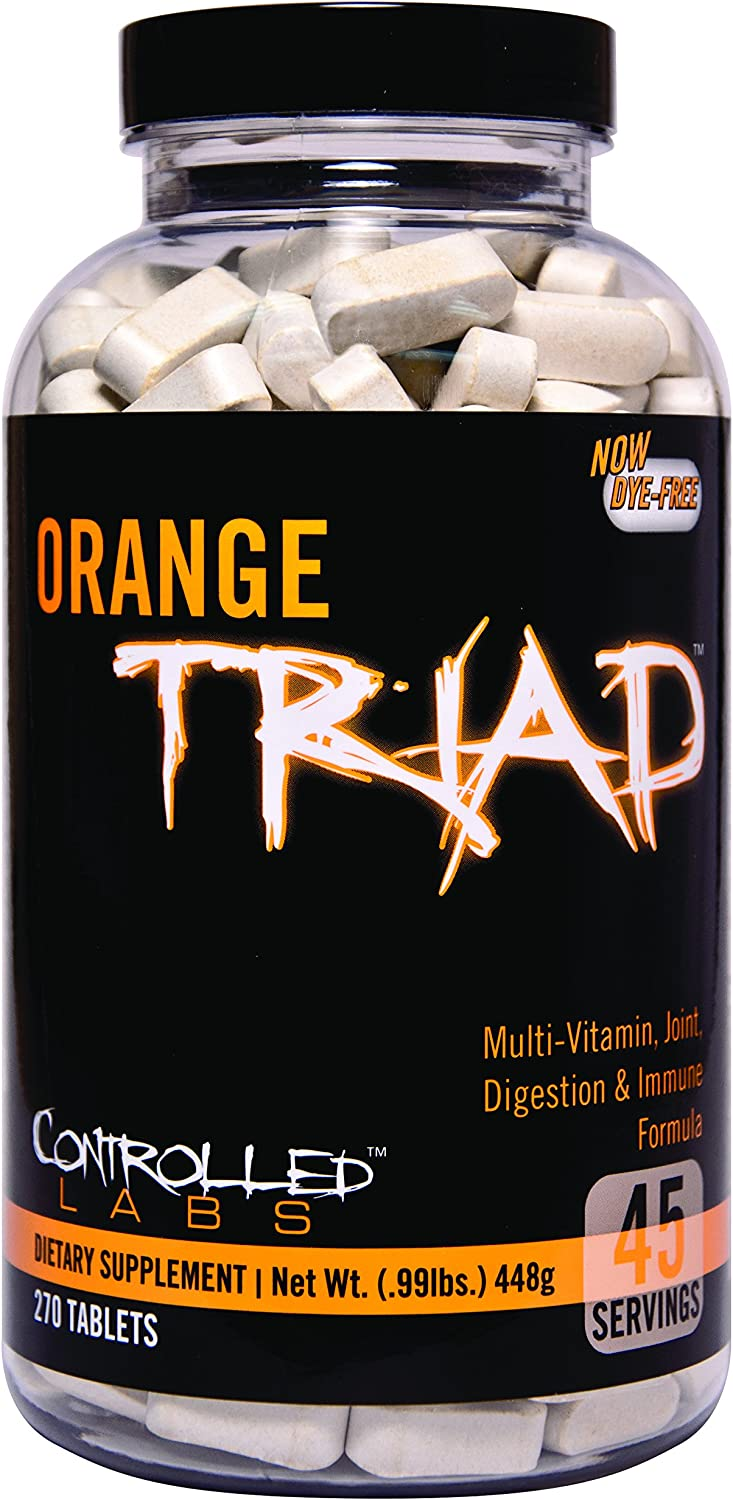 Controlled Labs Orange Triad Multivitamin, Joint, Digestion, And Immune, 270-Count Bottle