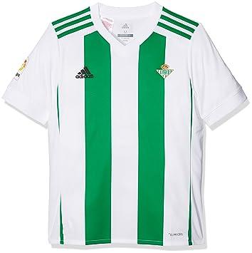 Adidas Betis H JSY Y Camiseta de Equipación, Niños, Blanco, 152-11/12 años: Amazon.es: Deportes y aire libre