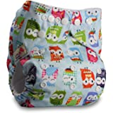 LittleBloom, Reusable Pocket Cloth Nappy, Fastener: Popper, Set of 1, Pattern 8, Without Insert