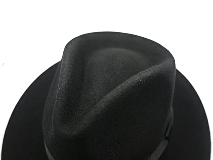 df8ef881e Felt Fedora Wool Hat Classic Manhattan Mens Indiana Jones Hats Gangster  Stain Unisex