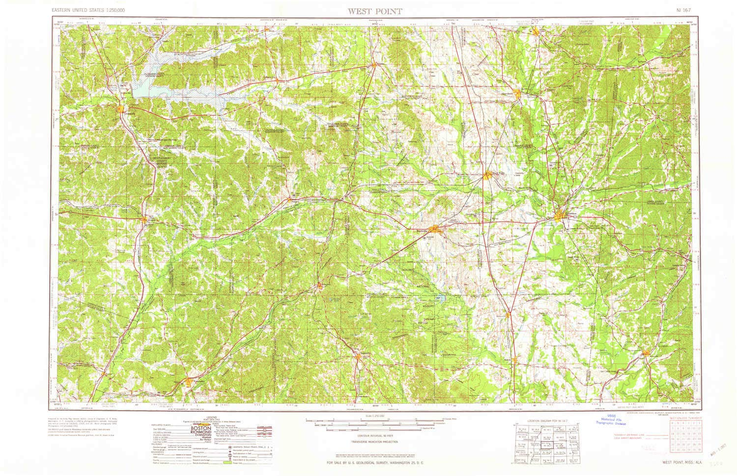 Topographic Map Mississippi.Amazon Com Yellowmaps West Point Ms Topo Map 1 250000 Scale 1 X