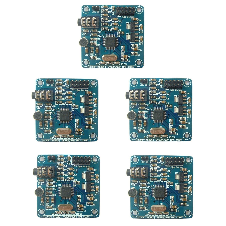 Amazon.com: Optimus Electric 5pcs VS1003 MP3/WMA/MIDI Audio Digital-Analog Codec with On-Board Microphone from: Electronics
