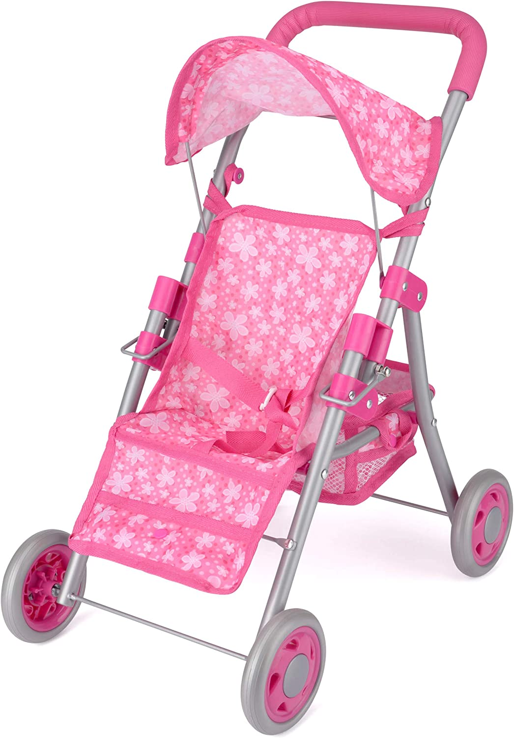 Collapsible Stroller for Kids Snuggles Deluxe Dolls Buggy