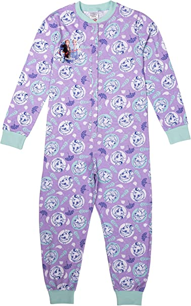 Boys Girls Disney /& TV Character Fleece Playsuit Pyjama Sleepsuit Nightwear Gift