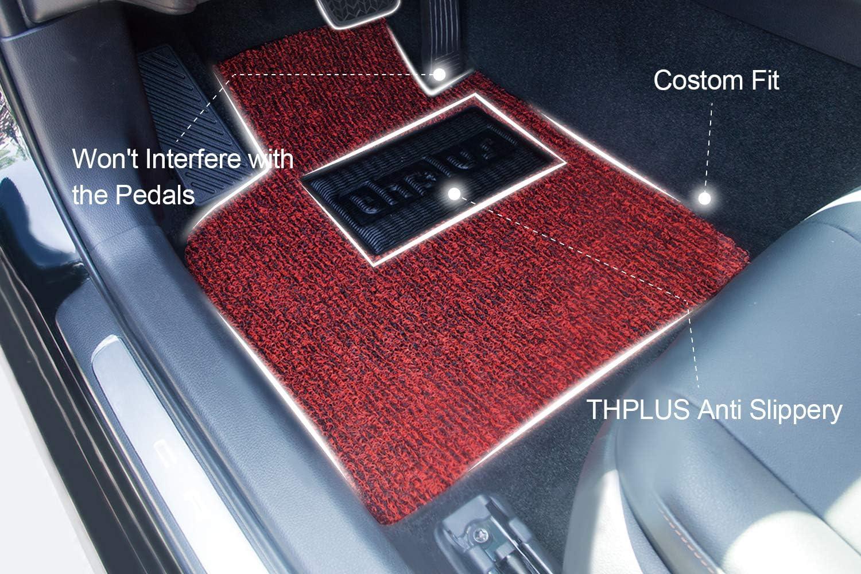 THPLUS Car Floor Mats 4 Piece Floor Mats for Car Honda Civic 2016-2019 All Season ProtectionVinyl Car Mats Full Set Trimmable Heavy Duty