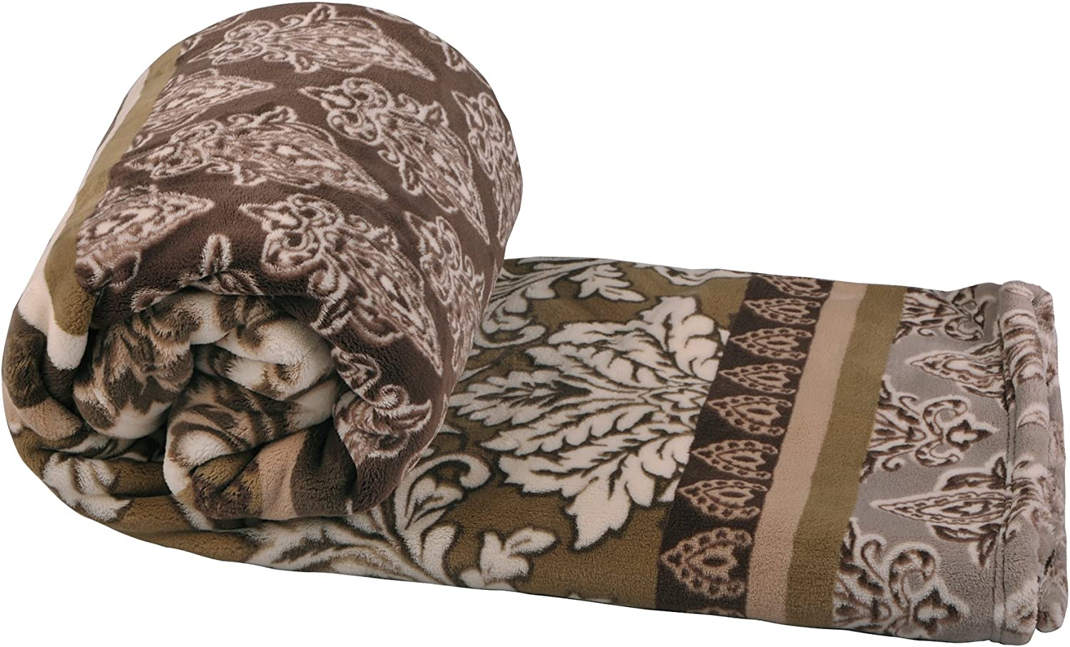 """Home Soft Things Cosafina Throw Blanket 60"""" x 70"""" Ermine"""