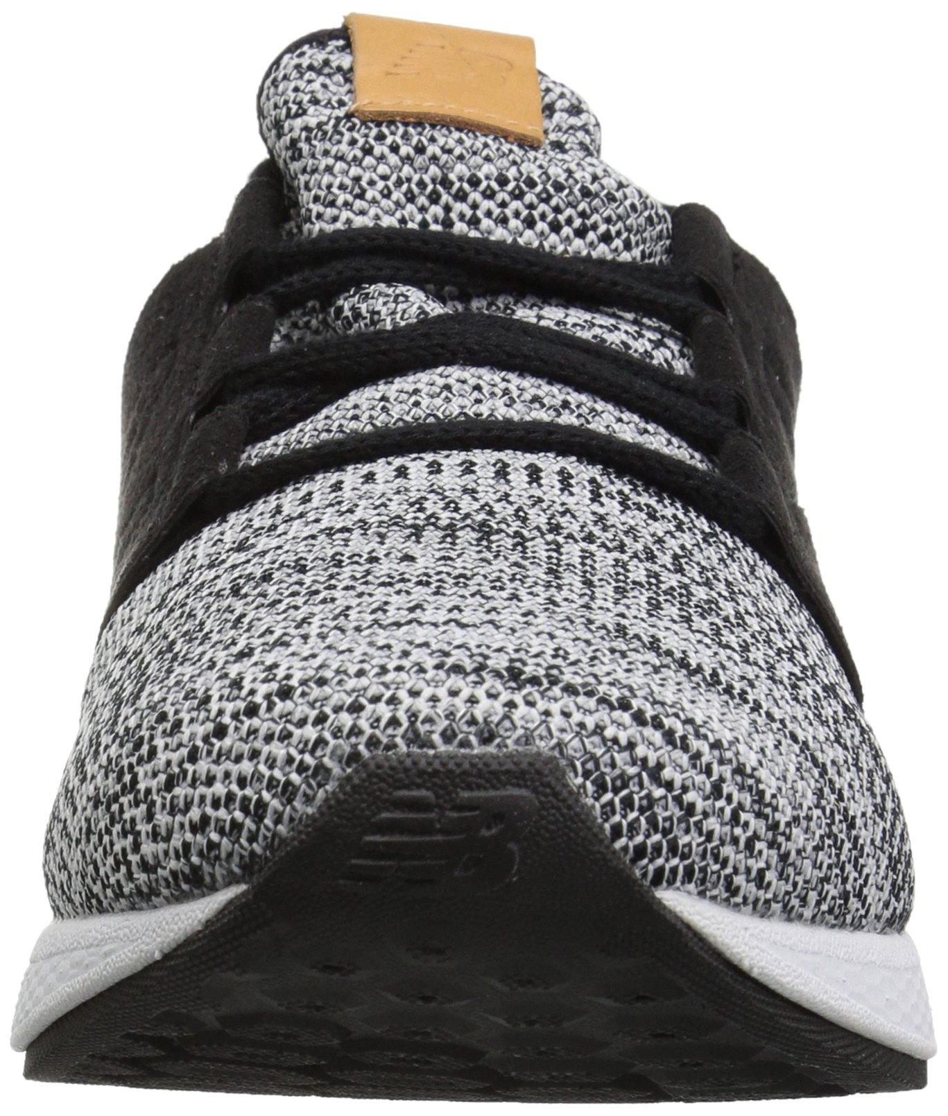 New Balance Men's Cruz V2 Fresh Foam Running Shoe, white/black, 7 D US by New Balance (Image #4)