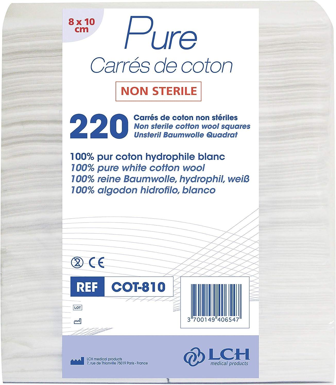LCH- Rectángulo de algodón 8 x 10 cm - Ideal para cambiar a los ...